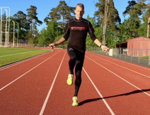 Snabbare löpning med 5 min hopprep